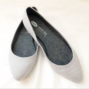 Dr.Scholls Grey Pointed Toe Flats